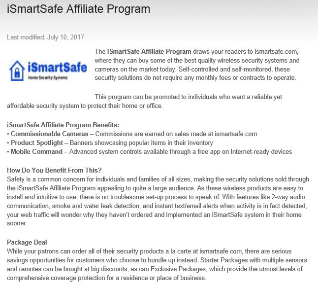 ismartsafe affiliate program