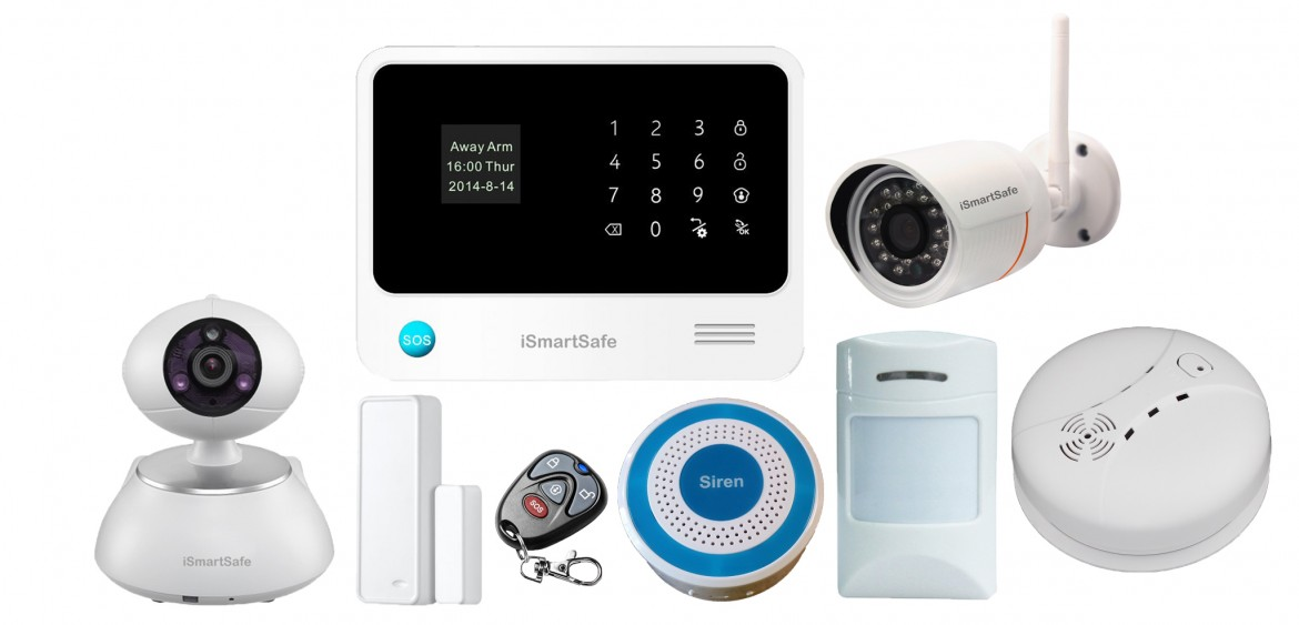best wireless home security systems from ismartsafe. Black Bedroom Furniture Sets. Home Design Ideas