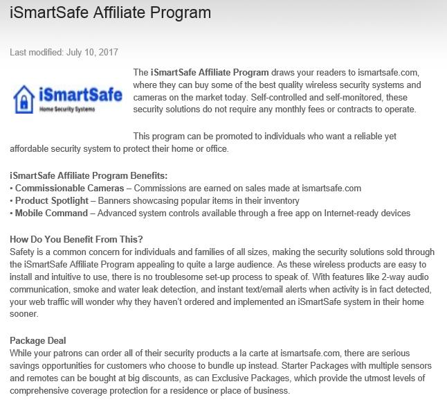 ismartsafe affiliate program