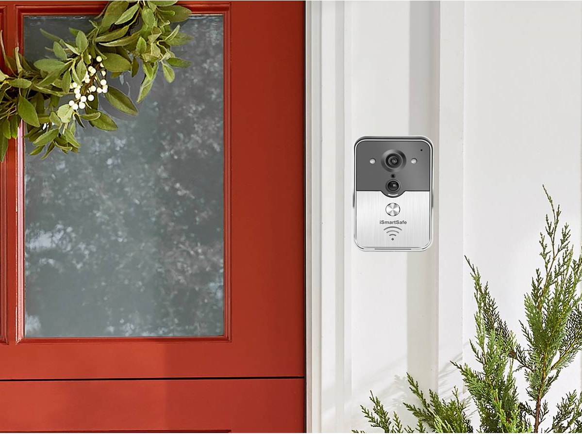 iSmartSafe Doorbell in Front Door