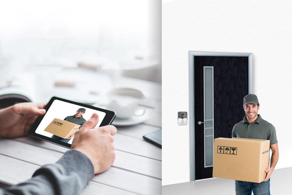 iSmartSafe Doorbell w delivery man